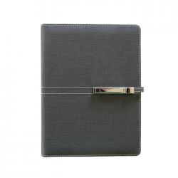 Agenda A5 nedatata cu catarama si mecanism 6 inele Trend negru 13650680