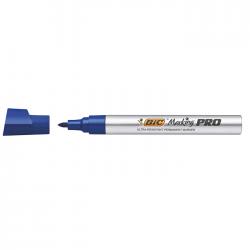 Marker permanent Bic Marking Pro, varf rotund albastru 6410