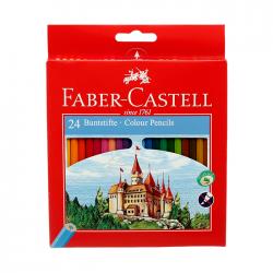 Creioane colorate 24 culori Faber Castell eco 120124