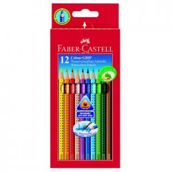 Creioane colorate 12 culori cu grip Faber Castell 112412