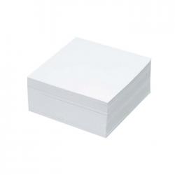 Cub notite alb 500 file 9x9 cm
