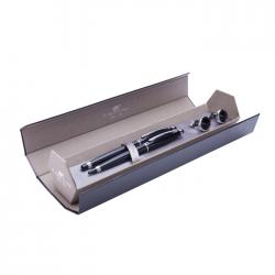Set pix+stilou cu butoni DP negru cu accesorii cromate DPC-16-4625