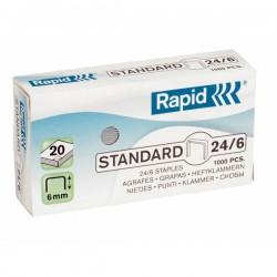 Capse 24/6 RAPID 20 coli standard